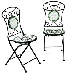 Set 2 scaune pliabile 45 cm pentru gradina