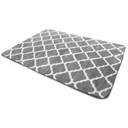 Covor 3D Clover Medium Grey & White