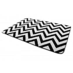 Covor 3D ZIG ZAG BLACK & WHITE