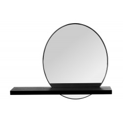 Oglinda rotunda cu raft de 45cm